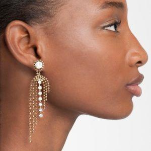 Loren Hope silver Glen fringe dangle earrings